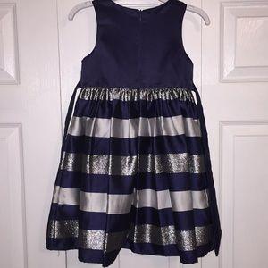 American Princess Dresses - Girls navy striped dress